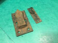 Garden gate catch, pair not matching,steel, vintage house restoration