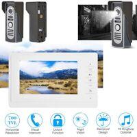 """7"""" Wired Door Bell Home Security System Video Door Doorbell Wires Video Intercom"""
