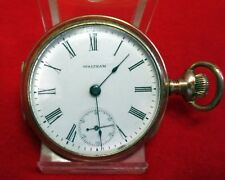 CIRCA1902 AMERICAN WALTHAM  POCKET WATCH 18 SIDEWINDER GOLD FILLED CASE SERVICED