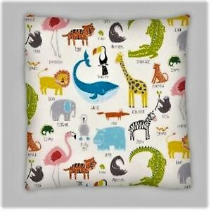 Scion Style Lion, Giraffe, Elephant Double Sided Polyester Cushion Covers 18x18