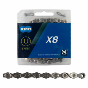 KMC X8.93 Chain - 6, 7, 8-Speed, 116 Links, Silver/Gray