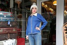 Jacke Strickjacke TRUE VINTAGE jacket blau Rockabilly made in italy NOS Pullover