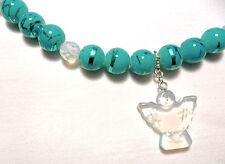 """Choker necklace, blue + Opalite + Opalite angel 17""""-19"""""""