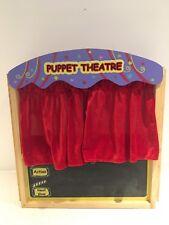 ELC Wooden DOIGT théâtre de marionnettes avec 10 marionnettes