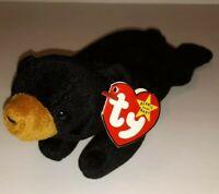 "Ty Beanie Baby 1993 ""BLACKIE"" 4011 The Bear P.V.C. pellets Canadian Tush"