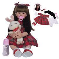24'' Lifelike Handmade Reborn Princess Baby Girl Doll Soft Vinyl Toddler Dolls