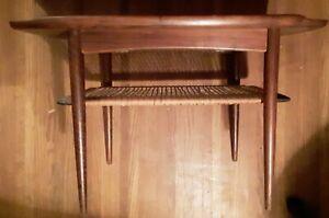 mid century danish modern poul jensen end table for SELIG Denmark all original