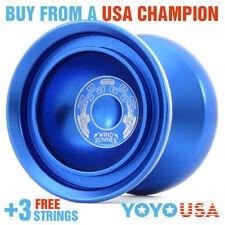 Duncan Wind Runner Metal Yo-Yo YoYo  - Blue 9256SE-J + FREE STRINGS