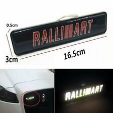 RALLIART LED Light Car Front Grille Badge Illuminated Decal Sticker MITSUBISHI