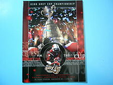 2005 MONTREAL ALOUETTES VS EDMONTON ESKIMOS CFL GREY CUP FOOTBALL PROGRAM NICE!!