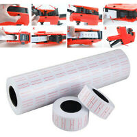 10 Rolls White Price Pricing Label Paper Tag Tagging For MX5500 Labeller Gun
