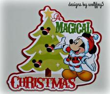 DISNEY XMAS TITLE Premade paper piecing scrapbook diecut piece page 3D art album