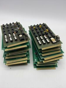 """VINTAGE  CIRCUIT BOARD SCRAP RECOVERY GOLD CAP ENDS 4.5"""" x 8"""" (18 qty)"""