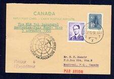 51472) KLM Polar FF Amsterdam - Biak 5.11.58, Canada reply card via Brüssel