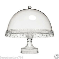 New Clear Acrylic Pedestal Wedding Cake Plate Stand and Dome Lid Birthday