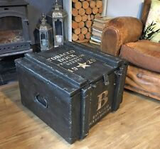 Tobacco Dock 1929 INDUSTRIAL Chest COFFEE TABLE Storage Trunk FREE UK DELIVERY