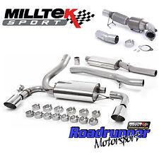 """MILLTEK Focus RS MK3 Turbo Back Sistema Di Scarico & GATTO il tubo verticale 3"""" risuonano polacco"""