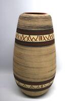 Große Keramik Vase Zöller + Born 50er Jahre Ritzdekor 91/50
