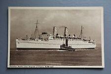 R&L Postcard: Canadian Pacific Liner Empress of France