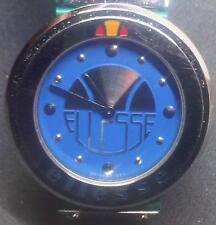 Original Ellesse Men's watch Quartz 35mm w/out Crown ! rubber/leather band NEW !