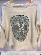 Women's Ladies Skull Lace Jumper Comfort Lounge Size Small Knit
