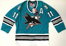 OWEN NOLAN SAN JOSE SHARKS NIKE AUTHENTIC ON ICE GAME JERSEY SIZE 44 NEW W/ TAGS