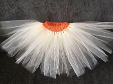 Girls Disney Moana Inspired tutu Orange And Cream Age 1 - 10 Years New Handmade