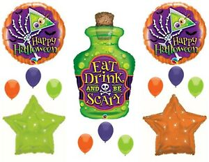 Halloween Magic Potion Eat Drink Be Scary Party Balloons Decorations Spells