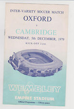 Programma / Programme Oxford University v Cambridge University 05-12-1979