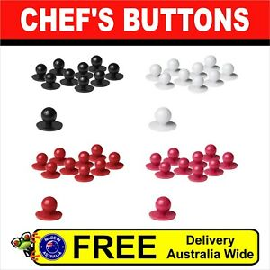 Chef Jacket Buttons 10 Buttons pack, BLACK,WHITE,RED,HOT PINK colour