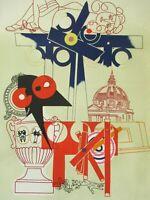 Giuseppe Guerreschi - Litografia originale del '69, numerata e firmata