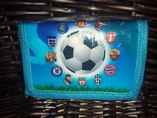 One piece single wallet boy-girls UNISEX Futbol  blue color NEW