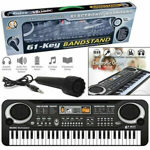 61 KEYS ELECTRONIC PIANO KEYBOARD ELECTRIC MUSICAL ORGAN WITH MICROPHONE SET