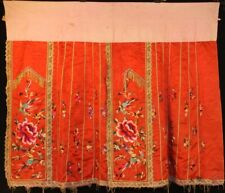 Chinese Old hand embroidery silk skirt