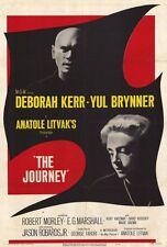 THE JOURNEY Movie POSTER 27x40 Deborah Kerr Yul Brynner Jason Robards Robert
