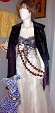 Vintage Velvet Swing Opera Coat Cape Custom Made Hong Kong silk lining size S