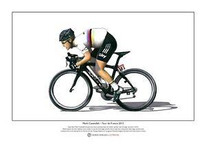 Mark Cavendish - Tour de France 2012 - Limited Edition Fine Art Print A3 size