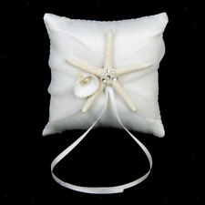 Satin Rhinestone Starfish Beach Wedding Party Pillow Bearer 4""