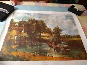 "VINTAGE JOHN CONSTABLE CANVAS ART PRINT ""THE HAY WAIN"" UNFRAMED 27""x21"" Haywain"