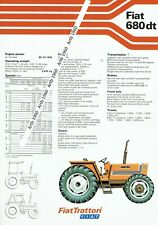 Fiat 680dt tractor 2 sided A4 leaflet /Brochure 1979?
