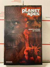 """Sideshow Planet of the Apes Gorilla Soldier 12"""" Figure NIB"""