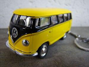 Porte clé Volkswagen bus combi T1 jaune et noir neuf, idée cadeau