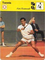 1977 Sportscaster Card Tennis Ken Rosewall # 13-15 NRMINT.