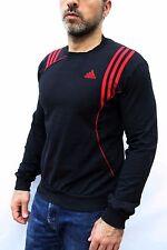 ADIDAS Black & Red Milan Football Sweater Jumper Top Mens SMALL S