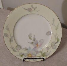 "Thun TK 17714 9-7/8"" Fine China Cream Border White Floral Dinner Plate Bohemia"