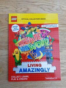 Sainsbury's LEGO Album / Book - 2020 - Create the World Living Amazingly . NEW