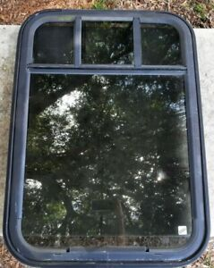 """(1) Chevy Express Shuttle Bus Window: Privacy Top Sliding Glass 34""""x25""""  #R3"""