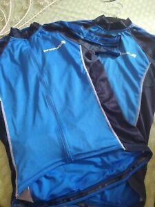 ENDURA FS260-PRO ,CYCLING JERSEY..x2..blue and black size Large