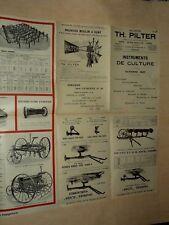 Prospectus Matériel Agricole PILTER 1927 Eolienne  Moulin Tracteur Brochure