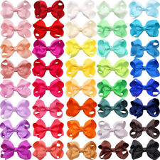 "40 Colors Lot Boutique Pinwheel 3"" Hair Bows Alligator Clips For Babies Toddlers"